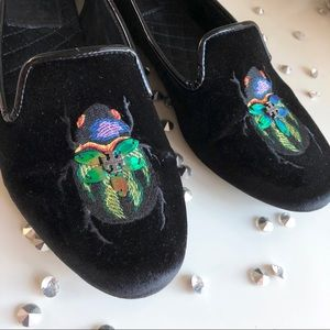 🐞Tory Burch Beetle Smoking Slippers🐞
